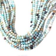 Gemstone Round Faceted Amazonite Beads 8mm