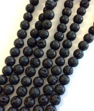 Gemstone Round natural Lava Beads