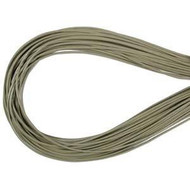 Grey Round Leather cord 1.5mm