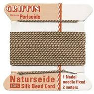 Griffin silk bead cord Beige 14
