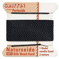 Griffin silk bead cord Black 8