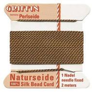 Griffin silk bead cord Brown 3