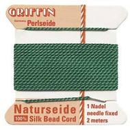 Griffin silk bead cord Green 8