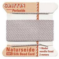 Griffin silk bead cord LT pink 8