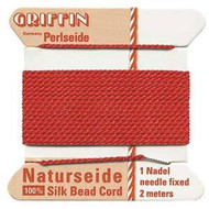 Griffin silk bead cord red 2
