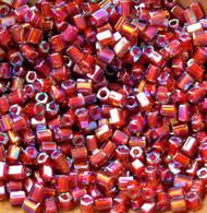 Hex Japanese  Dark Amber AB Glass Seed beads
