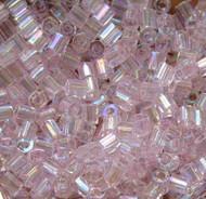 Hex Japanese Light  Blush  AB Glass Seed beads