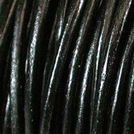 Indian Round Leather 4mm Black