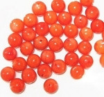 Italian Natural dyed Coral beads 7mm