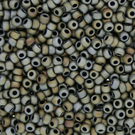 Japanese Matte Grey Khaki Glass Seed beads 28 Gram