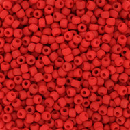 Japanese Matte Opaque Red Glass Seed beads 28 Gram