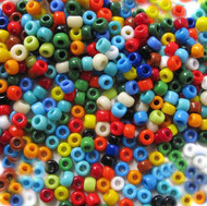 Japanese Mixed Glass Seed Beads 6/0-28 grams