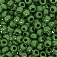 Japanese Opaque Dark Green Glass Seed beads 28 Gram
