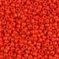 Japanese Opaque dark Orange Glass Seed beads 28 Gram