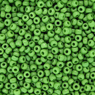 Japanese Opaque Leafy Green Glass Seed beads 28 Gram