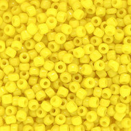 Japanese Opaque yellow Glass Seed beads 28 Gram