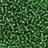 Japanese Silver Lined Green Glass Seed beads