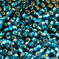Japanese Teal Green Silver Lined Glass Seed Beads 6/0