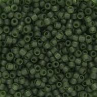Japanese Transparent Matte Olive Green Glass Seed beads 28 Gram