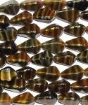 Milky Brown Czech Glass Beads