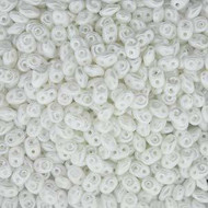 Miniduo 2x4mm Pastel Snow White Glass Beads
