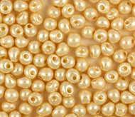 Miyuki 3.4 Mm Drop Op. Ant. Bone Pearl Beads 15 Gram