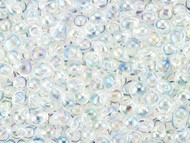 Miyuki 3.4 mm Drop Transparent Rainbow Crystal 15GM Bag