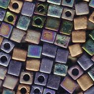 Miyuki 4mm Cube Mix Matte Heavy Metals Beads