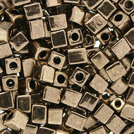 Miyuki 4mm Square Bronze Metallic Beads