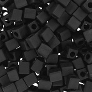 Miyuki 4mm Square Matte Black Beads