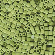 Miyuki 4mm Square Matte Op Chartreuse Ab Beads