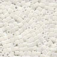 Miyuki 4mm Square Op White Beads