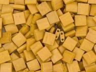 Miyuki 5mm Op Matte Honey Mustard Tila Square Bead 10 Gram