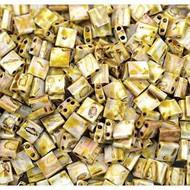 Miyuki 5mm Tila Picasso Coated Seed Bead Canary Yellow