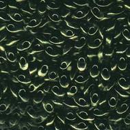 Miyuki Long Magatama Metallic Olive Beads