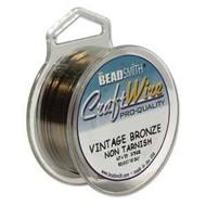 Non Tarnish Vintage Bronze Craft Wire 24ga Round 20yd Spl