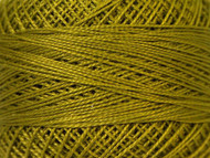 Pearl Cotton Dark Lime Green #12 Beading Thread