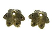 Pewter Bead Cap Antique Brass