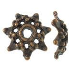 Pewter Bead cap Antique copper
