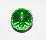 Preciosa Czech round faceted Peridot fire polished 18mm