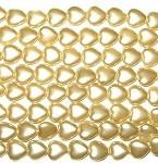 Rich Gold Czech Heart Glass Pearl  12x11mm