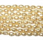 Rich Gold Czech Oval twist Glass Pearl