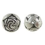 Rosebud Metal Ant Silver Beads