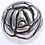 Rosebud Metallized Plastic Ant Silver Beads