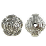 Rosebud Metallized Plastic Silver Beads