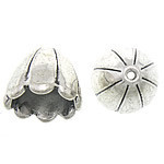 Silver Plated Flower Bead Cap