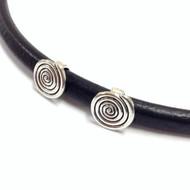 Silver metal spiral sliders