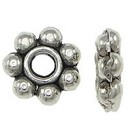Spacer Beads Antique Silver Daisy