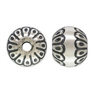 Sterling Silver 10mm Round Stamped Bead