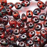 Superduo 2.5x5mm Hyacinth Travertine Dark  Beads 10GM Bag
